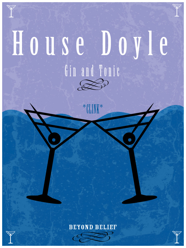 A house sigil for Frank and Sadie Doyle from Beyond Belief in the Game of Thrones Style.