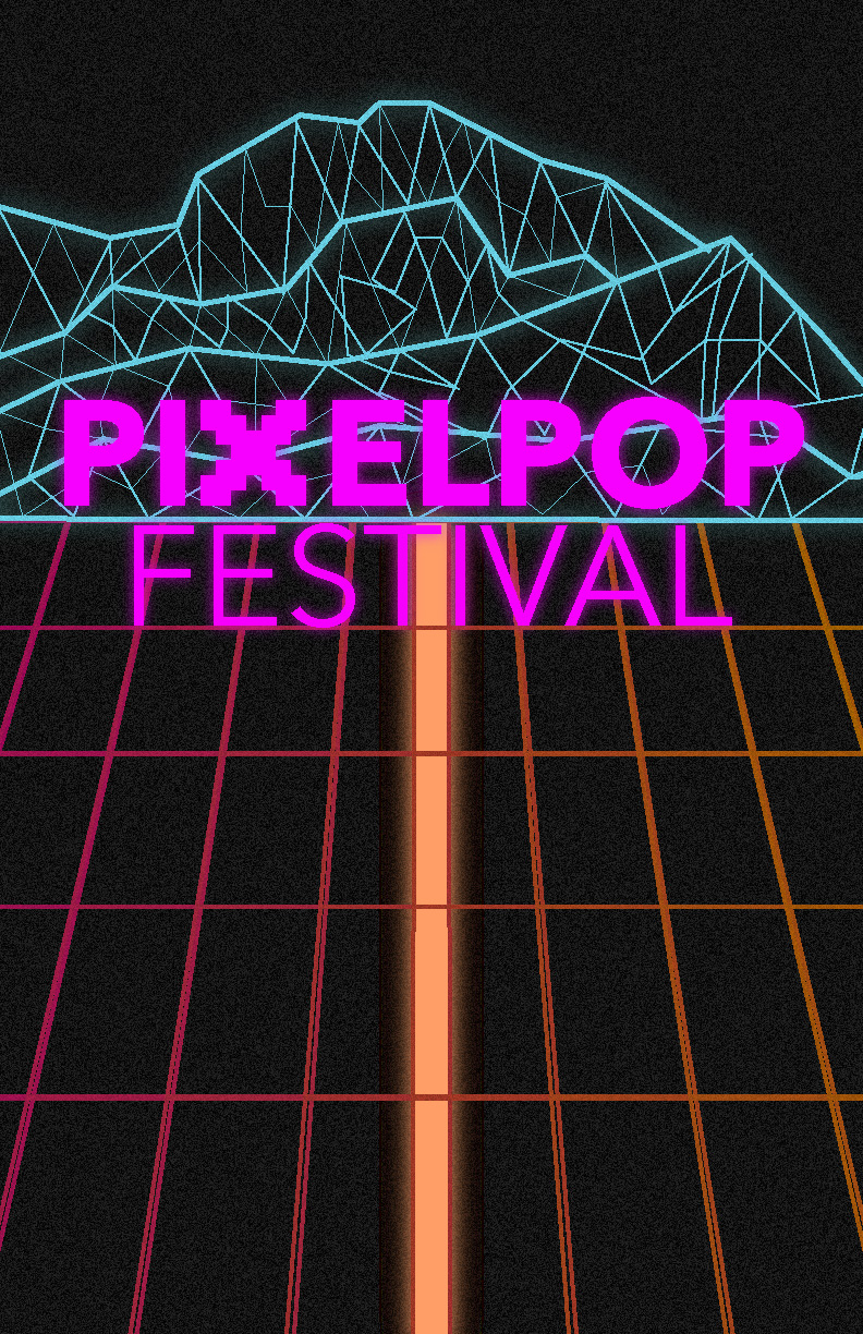 Pixelpop Festival, Tron and Far Cry 3: Blood Dragon and some 80's graphics.