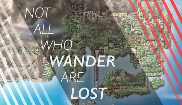 Monday Mashup: This one was inspired by Cassie Browning. She showed me the JRR Tolking phrase and I mashed it with the Kanto map from the Pokemon Games.