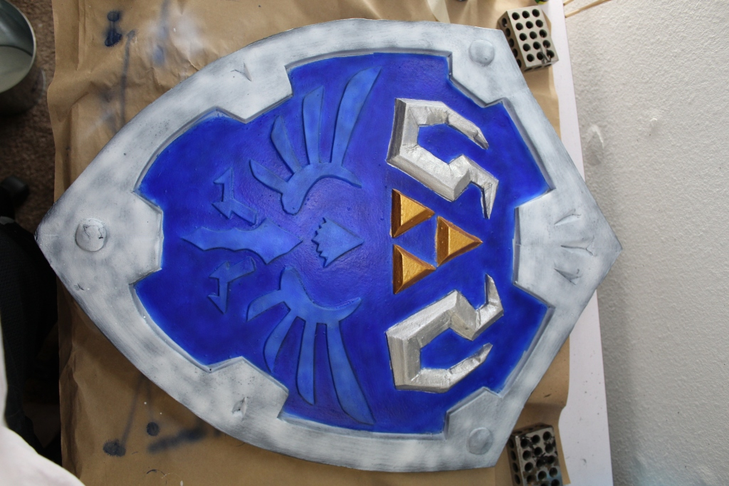 part painted shield